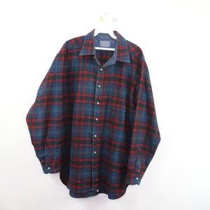 60s Pendleton Wool Tartan Plaid Rockabilly Shirt